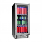 Klarstein Beerlager 88, хладилник за напитки, 88 l, 33 бутилки, енергиен клас A, неръждаема стомана, черен (TK15-Beerlager-88)