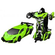 Funny Box Remote Control Justice Fighter Autobots Transforming Car - Green