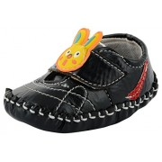 ESSENCE Baby Girls' Black First Walking Shoes(6-12 Month)