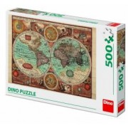 Puzzle - Harta lumii din 1626 500 piese