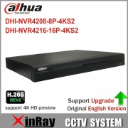 Dahua 4K NVRNVR4208-8P-4KS2 NVR4216-16P-4KS2 With PoE Port Support 4K H.265 IP Camera for Profession Security System