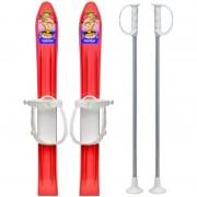 Skiuri copii Marmat, lungime schi, 60 cm Rosu