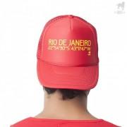 CA-RIO-CA Geo Rio Trucker Hat Red CRC-H1038