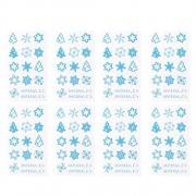 LUOEM 12PCS Christmas Theme Temporary Tattoos Holiday Flash Body Tattoo Stickers for Adult and Kids