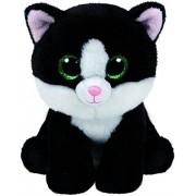 TY Peluche Cat Black White Ava 33cm