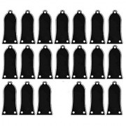 Kmise Z0063 20 Piece Plastic Bell Style for Epiphone Electric Guitar Truss Rod Cover 3-Ply Black