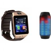 Zemini DZ09 Smart Watch and Pulse 2 Bluetooth Speaker for LG OPTIMUS L3(DZ09 Smart Watch With 4G Sim Card Memory Card  Pulse 2 Bluetooth Speaker)