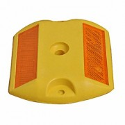 RE-FOX High Quality ABS Plastic Reflective Road Safety Studs Yellow Base with Yellow Reflector