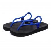 Zapatillas Flip Flops Slipper Con Cordón De La Playa Sandalias Para Hombres -Azul