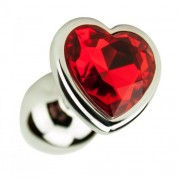 Precious Metals Heart Shaped Anal Plug-Silver