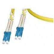 Patch cord - FO - 5 metri - LSZH - Galben - LANmark - Singlemode - Duplex LC-LC