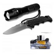 Lanterna Tática Militar 1000+ Canivete Tático Luatek 484