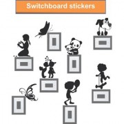 wall dreams Playing Kids Switch Board Sticker