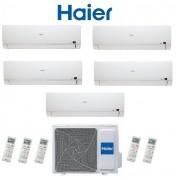 HAIER Climatizzatore Condizionatore Haier Penta Split Inverter Brezza (Bs4) Classe A++ 9000+9000+9000+9000+12000 Con 5u34hs1era 9+9+9+9+12