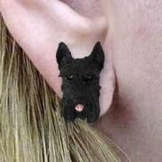 Conversation Concepts Schnauzer Black Earrings Post