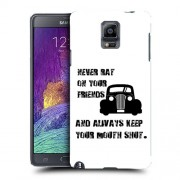 Husa Samsung Galaxy Note 4 N910 Silicon Gel Tpu Model Never Rat On Your Friends B&W