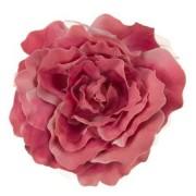 XL Flower 7 inch Rose Silk Pin Clip on - Pink