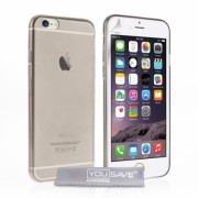 YouSave Accessories iPhone 6/6s Ultra Thin Gel Case - Smoke Grey