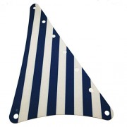 Lego Parts: Armada Flagship - Cloth Sail Triangular 14 x 22 with Blue Thin Stripes Pattern (From Sets 6280 & 6291)