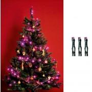 Beltéri karácsonyfa fényfüzér 200 db LED pink KI 200 LEDP
