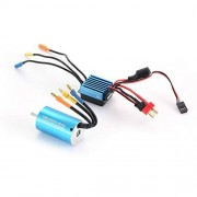 Henanxi 2845 3930KV Sensorless Brushless Motor with 35A Brushless ESC Electric Speed Controller for 1/14 1/16 1/18 RC Car Truck