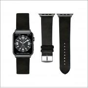 Zwart Lederen Apple horlogeband (42mm) zwarte adapter