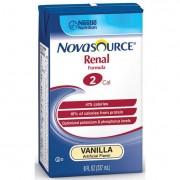Novasource Renal Nutritional Support Vanilla Flavor Liquid 8 oz. Brik Pak Part No. 35110000 Qty Per Case