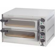 Casselin Four à Pizza Inox Double 230V 2 Pizza Ø350mm 550x420x375(h)mm