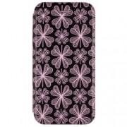 Husa Huawei P9 Lite, G9 Lite Flip Magnet Book Type - Purple Flowers