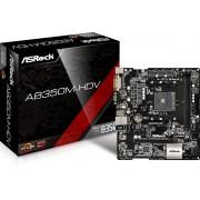 Asrock AB350M-HDV moederbord Socket AM4 Micro ATX AMD B350