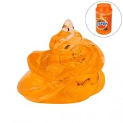 Clay Toys,Novelty Flash powder Clear Slime Cans Scented Stress Relief Toy Sludge Toys (Orange)