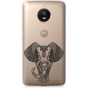 Motorola Moto E4 Plus Hoesje Elephant Mandala Black