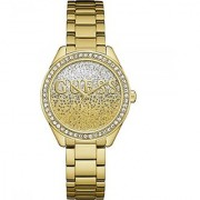 Guess Glitter Girl Gold Dial Analog Womens Watch -W0987L2