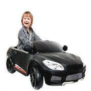 Jack Royal Kids Battery Operated Ride On Car With Music,Lights And Remote Control (Black)