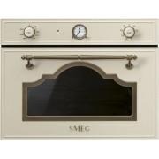 SMEG SF4750MPO beépíthető rusztikus mikrohullámú sütő - bézs / bronz