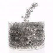 Merkloos Mystic Christmas kerstboom decoratie sterren slinger zilver 700 cm