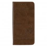 Cubierta de la caja del teléfono con billetera abatible de cuero en relieve para Samsung Galaxy S8 Plus