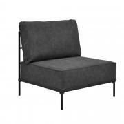 [en.casa]® Pohovka / sedacia súprava - kreslo - koženka - čierne