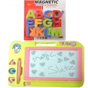 New Pinch Combo of Magnetic Learning Alphabets (ABC) with drawing writing Magic Slate for kids