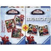Puzzle + joc memory Spiderman 3 buc in cutie 25/36/49 piese Ravensburger