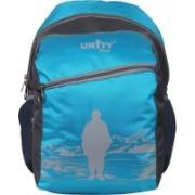 UNITY BAGS Polyester Multi Pocket School Bag |Casual Bag | Shoulder Backpacks for Girls & Boys 35 L Backpack(Blue, Black)