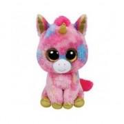 Ty Beanie Pluche unicorn roze 15 cm