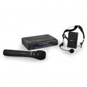 QTX 171.810 безжичен микрофонен комплект с 2 безжични микрофона (171.810UK)