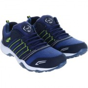 Lancer Lace-up Green & Navy Mesh EVA Running Shoes For Men