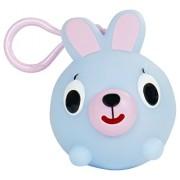 Jabber Ball Bunny Jr Squeak Toy Figure, Blue