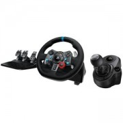 Волан Logitech G29 Driving Force Racing Wheel for PlayStation 4, PlayStation 3 and PC + Скоростен лост, Logitech Shifter for Driving Force G29