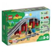 Lego Duplo Eisenbahnbrücke und Schienen 10872