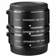 Walimex Pro Extension Tube Set de Anéis Extensores 10/16/21mm para Fuji X