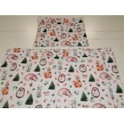 2 részes gyermek ágynemű garnitúra 90x130 cm - rózsaszín macis