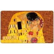 FRI.12222 Reggeliző alátét melamine 23,5x0,2x14,5cm, Klimt: The Kiss